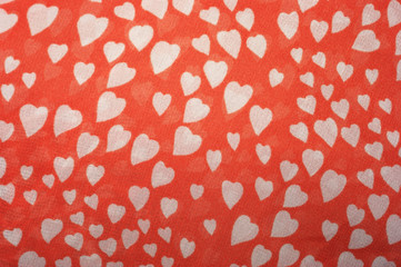 Red Heart print fabric texture