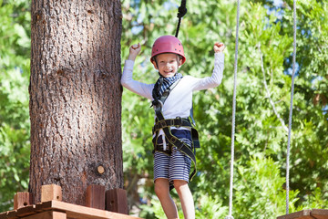 kid at adventure park