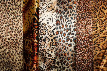 Set of leopard fabric