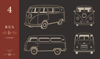 Vector Icons Hippie Bus