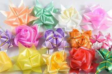 Colorful Plastic Ribbon Art