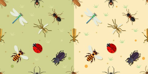Wall Mural - Sealmess insects pattern