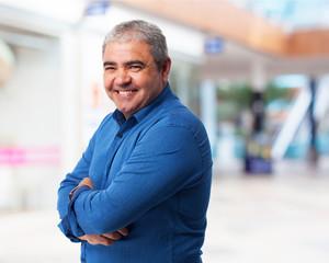 Fototapeta portrait of a mature handsome man smiling