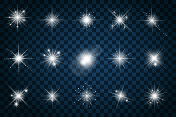 Wall Mural - Shine stars with glitters and sparkles