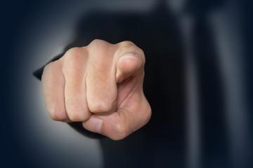 mano, dito, indicare, scelta
