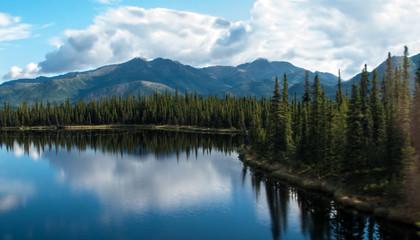 Aluminium Prints Reflection Lake and Mountian Range