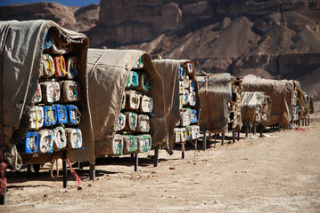 Hives in canyon of Wadi Hadhramaut in Yemen