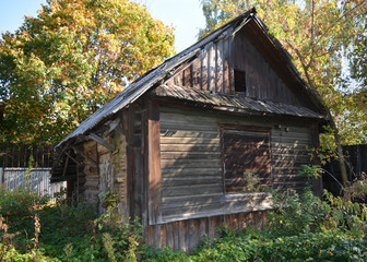 Old (one hundred years old) Russian wooden house