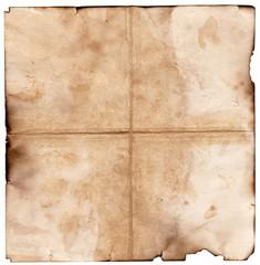 Vintage aged old paper. Original background or texture.