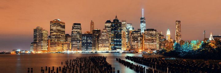 Fototapete - Manhattan at night
