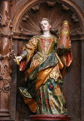 Sculpture of Saint Barbara in Burgos Cathedral