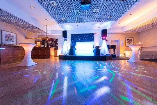 Tanzfläche für eine Hochzeitsfeier