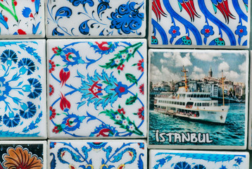 Istanbul souvenirs - colorful patterns on magnets