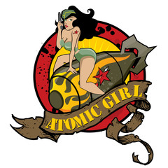Atomic Girl Pin Up