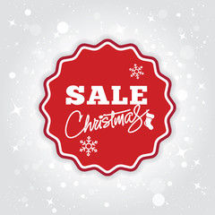 Christmas sale background. Special offer for christmas. Vector.