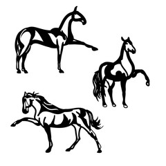Horse walking (graphic silhouettes)