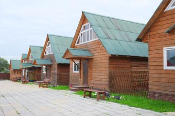 The image of log houses