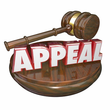 Appeal Word Judge Gavel Reverse Decision Retrial Request