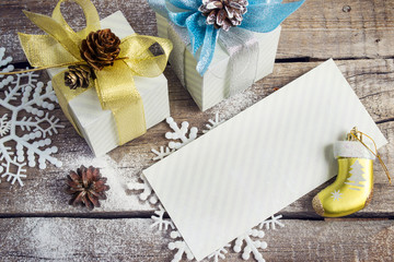 Congratulatory Letter, Christmas gifts, snowflakes, Christmas to