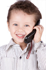 Young Children On The Phone
