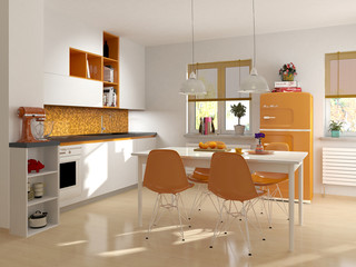 Küche Küchenzeile Retro Einbauküche modern jugendlich