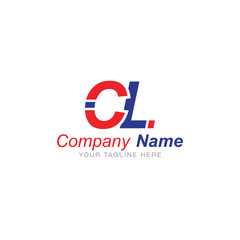 C and L Red and Blue - Logo Letters