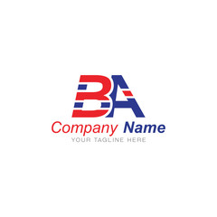 Fototapeta B and S Red and Blue - Logo Letters obraz