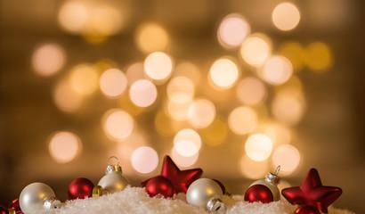 Weihnachten Lichter Funkeln Weihnachtskarte