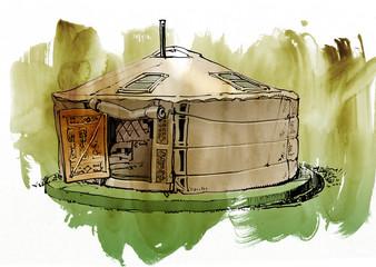 pao/Mongolian dwelling