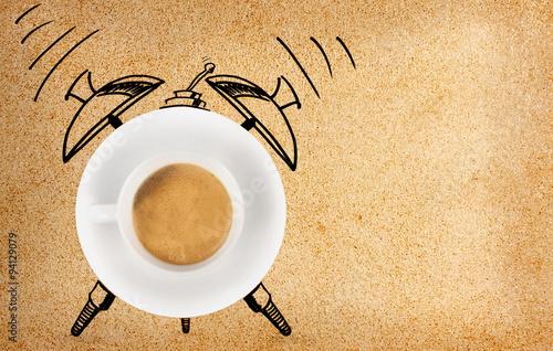 Disegno di sveglia con tazzina di caff immagini e for Disegno 3d free