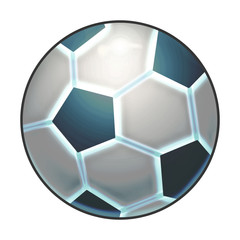 Illustration: Elements Set: Sport Ball: Football. Fantastic Realistic Cartoon Life Style