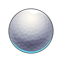 Illustration: Elements Set: Sport Ball: Golf Ball. Fantastic Realistic Cartoon Life Style
