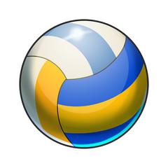 Illustration: Elements Set: Sport Ball: Volleyball. Fantastic Realistic Cartoon Life Style