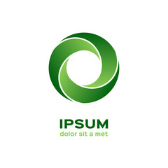 Business logo, green circle icon