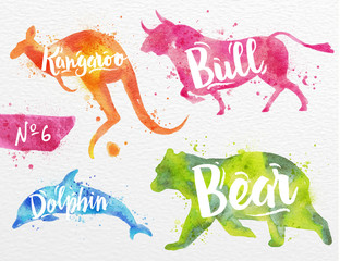 Painted animals bull