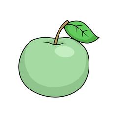 Apple cartoon vector illustration