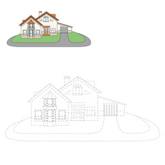 Draw house vector illustration