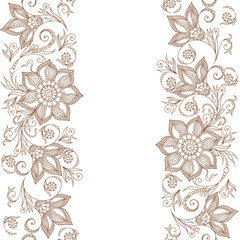 Vector Lace pattern for invitation or greeting card