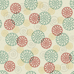seamless abstract ornament dots
