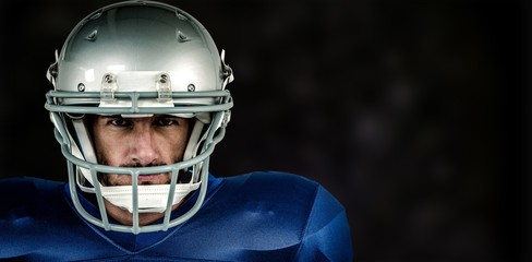 Composite image of portrait of american football player