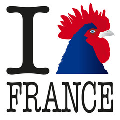 I love FRANCE Coq