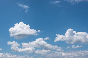 blue sky in summer