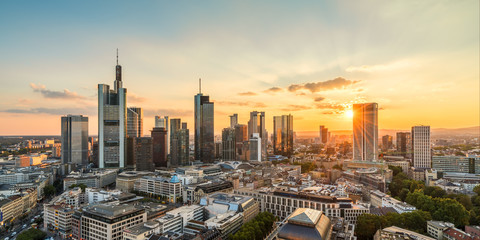 Frankfurt am Main late summer evening