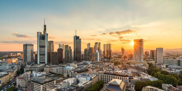 Frankfurt am Main late summer evening