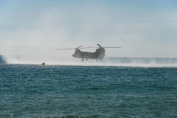 CH-47 Chinook helicopter. Airshow