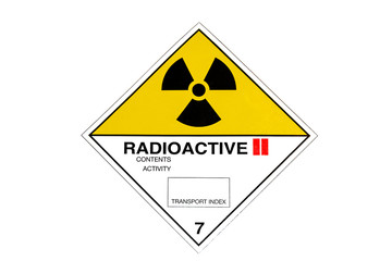 Warning sign for radioactive materials