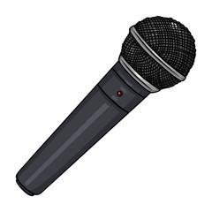 Vector Cartoon Dinamic Microphone