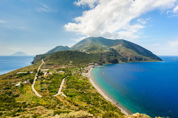 A stunning view on Filicudi island seashore, Sicily, Italy.