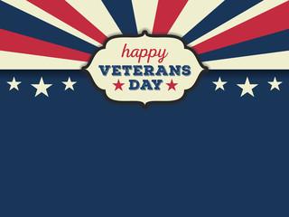 Veterans Day Background and Emblem Logo Design. Vector illustration