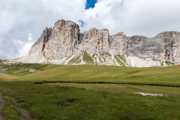 Backpacking in the italian dolomites